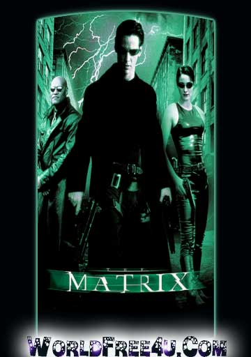 Poster Of The Matrix (1999) In Hindi English Dual Audio 300MB Compressed Small Size Pc Movie Free Download Only At worldfree4u.com