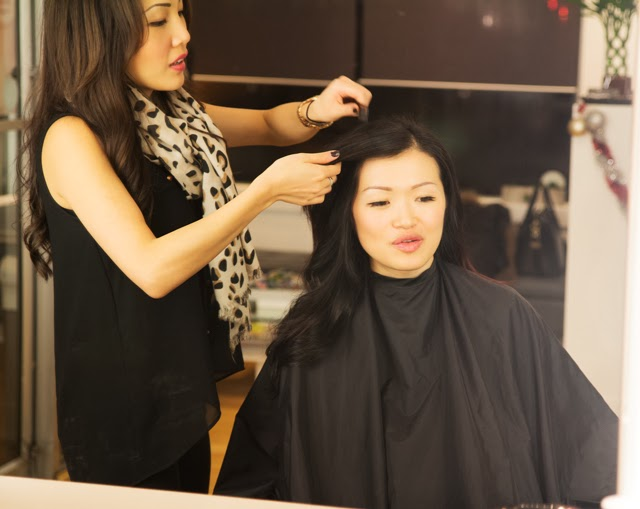 Vancouver Fashion Blogger Jasmine Zhu at Salon Haze