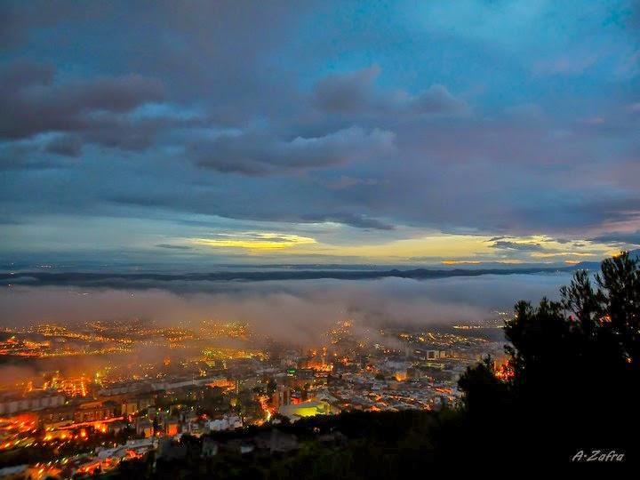 Amanece Jaén en Abril, desde Castillo de Santa Catalina