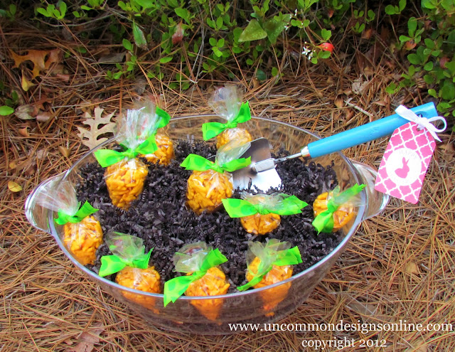 Easter Treat Carrot Patch! Grow your own carrots and pull them from the patch! #easter #eastertreat