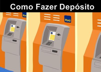 Depósito no Caixa Eletrônico do Itaú