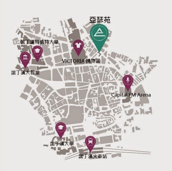 英國學生宿舍地圖