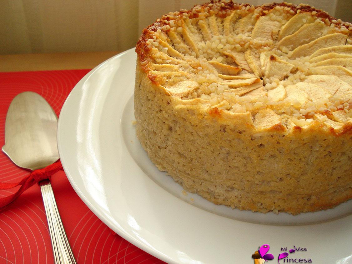 almendra, almendra y manzana, manzana, tarta, tarta de manzana, tarta de manzana y almendra,