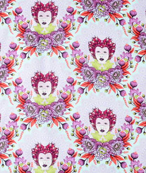 Tula Pink Selfie 16th Century Plum fabric