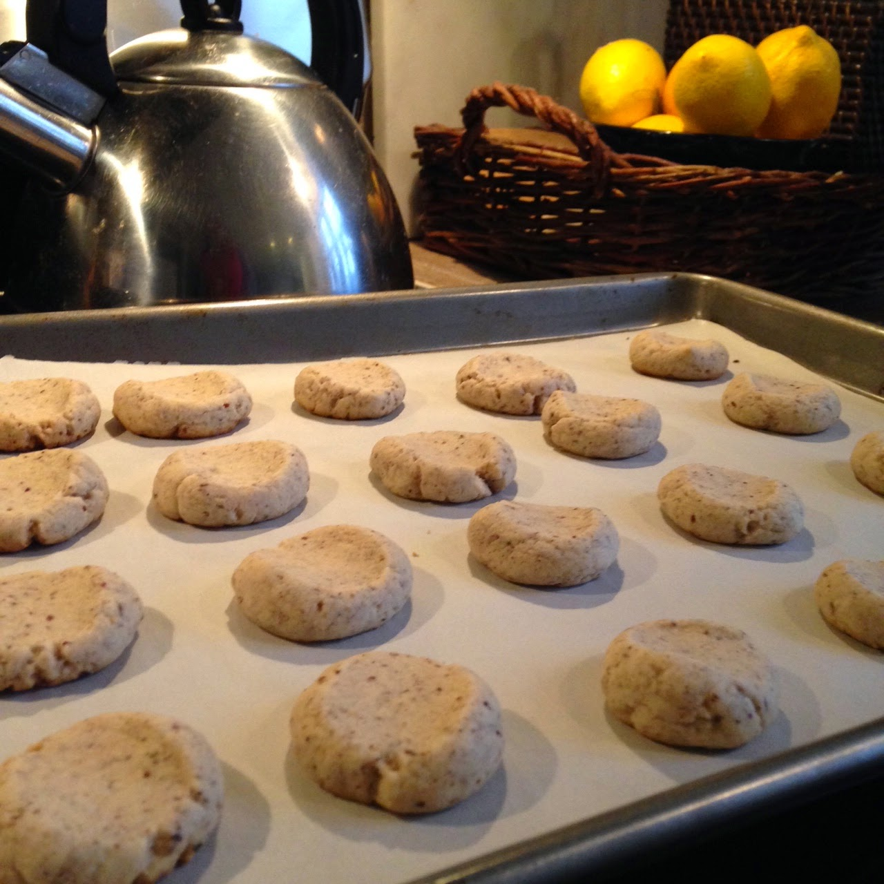 baking thumbprint cookies