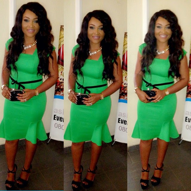 Mercy Aigbe's Amazing Green Look