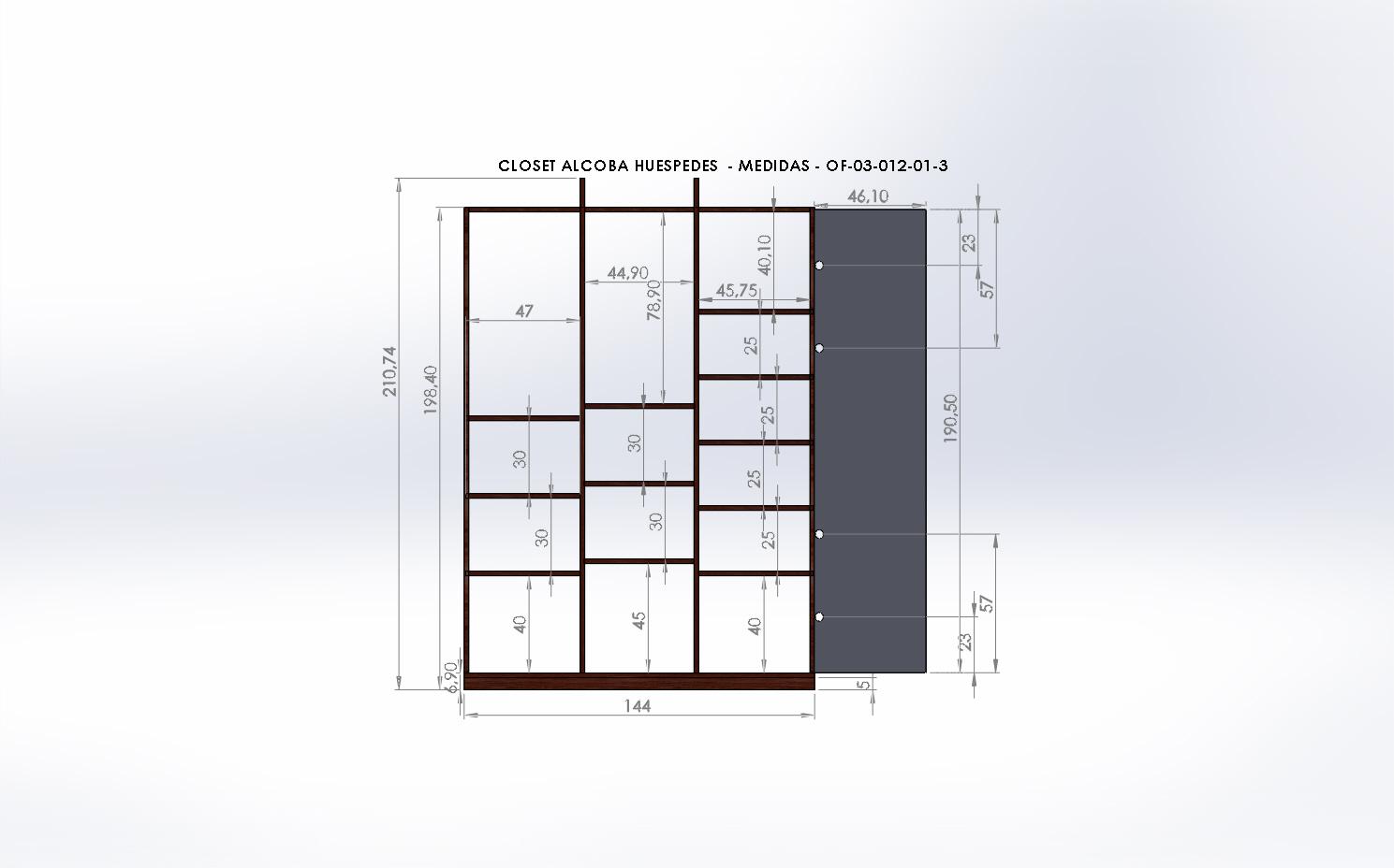 Dse o y obra muebles casa cedro bolivar muebles for Medidas de muebles para planos arquitectonicos