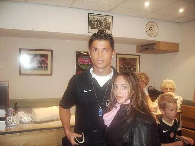 Amanda with Christiano Ronaldo