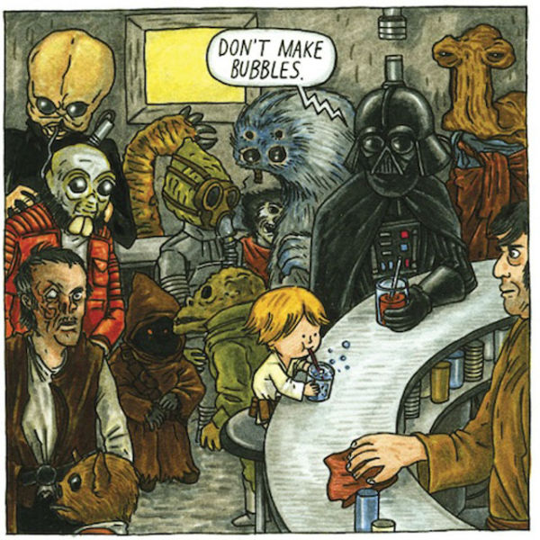 funny pictures, funny, darth vader and son, what would it look like if darth vader was actually a good father, star wars, movies