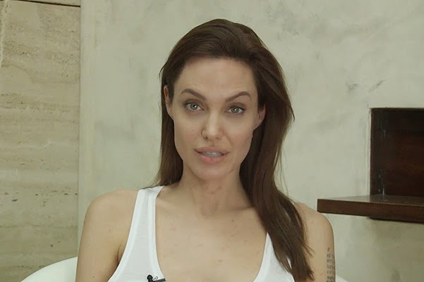 Angelina Jolie got sick with chickenpox