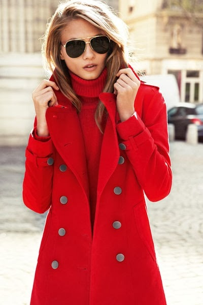 The Most Beautiful Red Coat For Winter Season