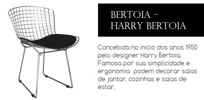 Cadeira Bertoia concebida no inicio dos anos 1950 pelo famoso designer Harry Bertoia.