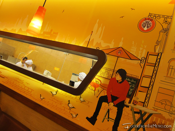 J.Co Donuts - Wall Mural Cartoon Scenery