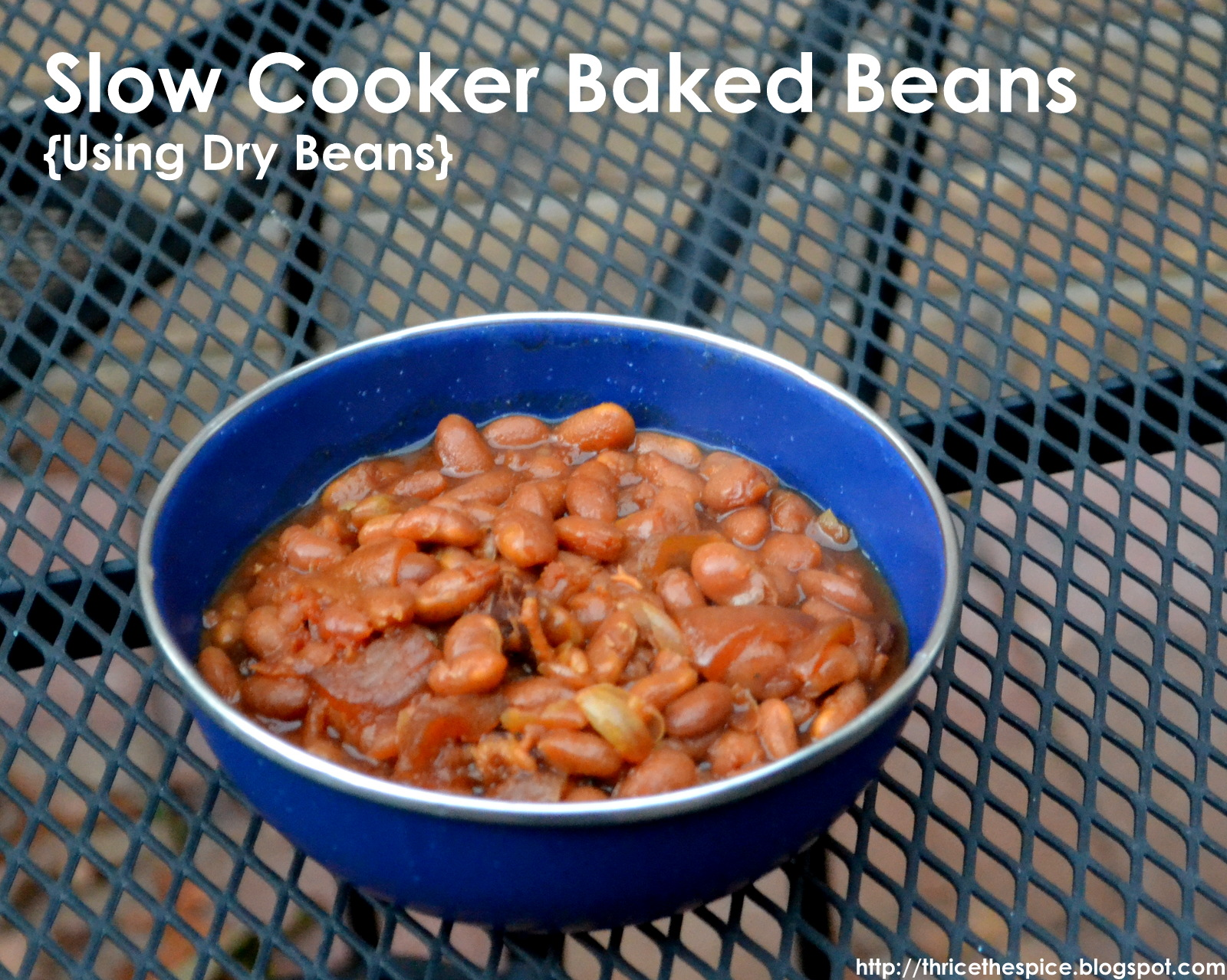 ThriceTheSpice: Slow Cooker Baked Beans {Using Dry Beans}