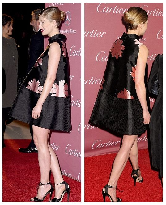 Yeah, the stylings were all great, and her flawless legs. . . . . . .They were obviously stole the spotlight.  So it's little wonder Rosamund Pike managed to picking most of the limelight at Palm Springs Film Festival at Palm Springs, CA, USA on Saturday, January 3, 2015.