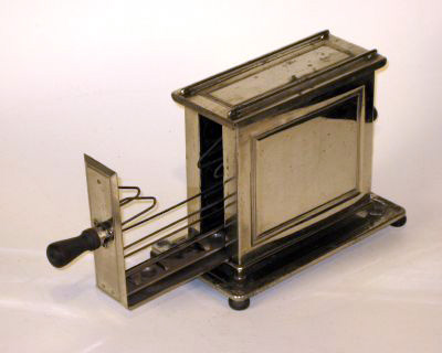 Side Loading Nickel Plated Toaster, C. 1910s. Made By Landers, Frary U0026  Clark. Via The Cyber Toaster Museum.
