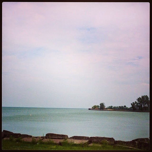 Beautiful Lake Erie from the park in Huron I visited so many times as a child.
