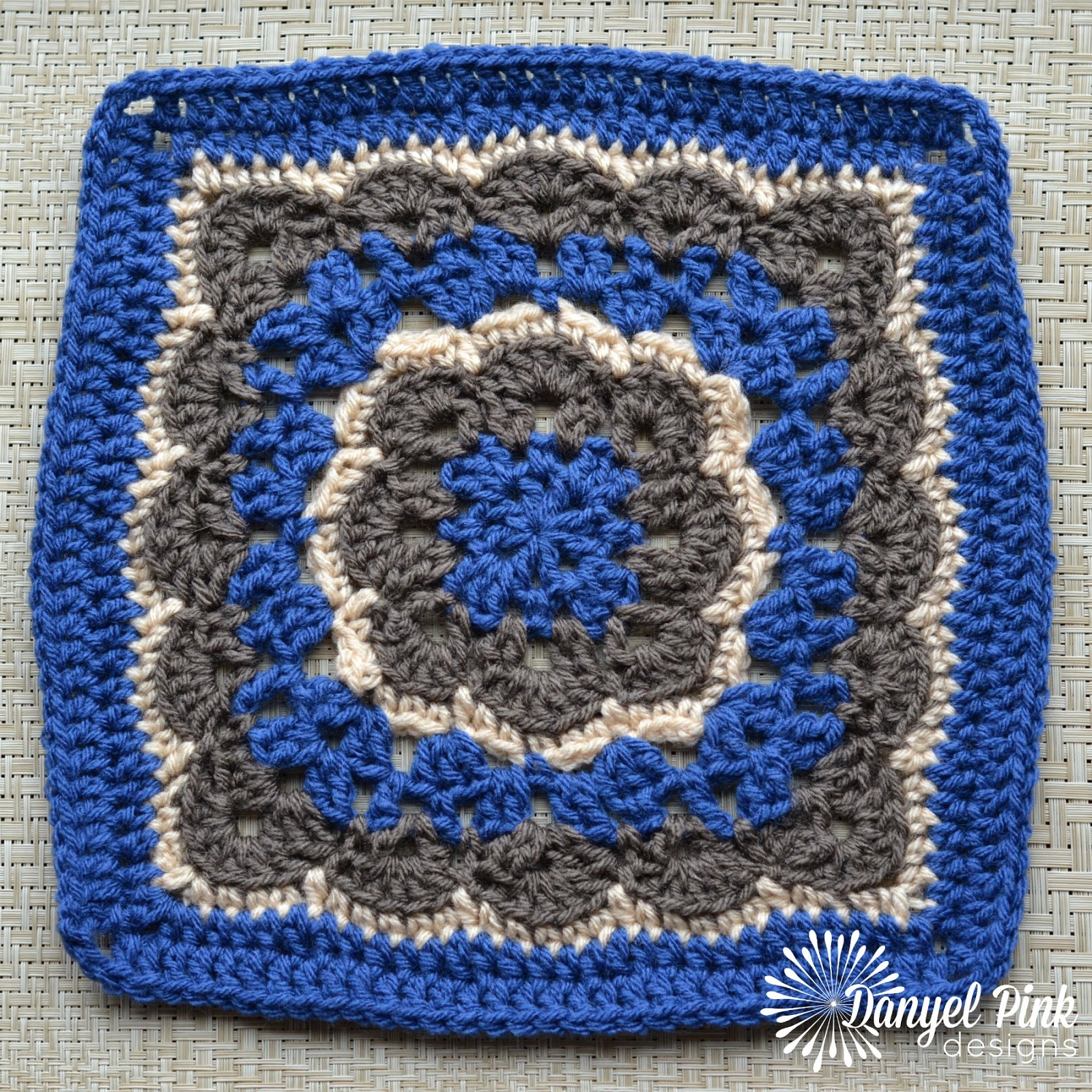 Danyel Pink Designs: CROCHET PATTERN - Winter Bloom Afghan Square