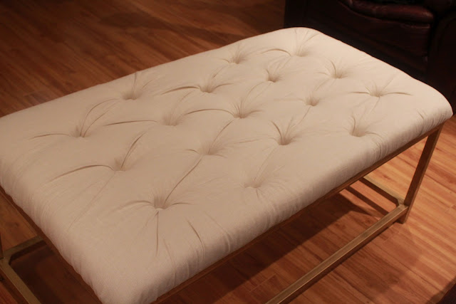fresh and fancy diy tufted coffee table