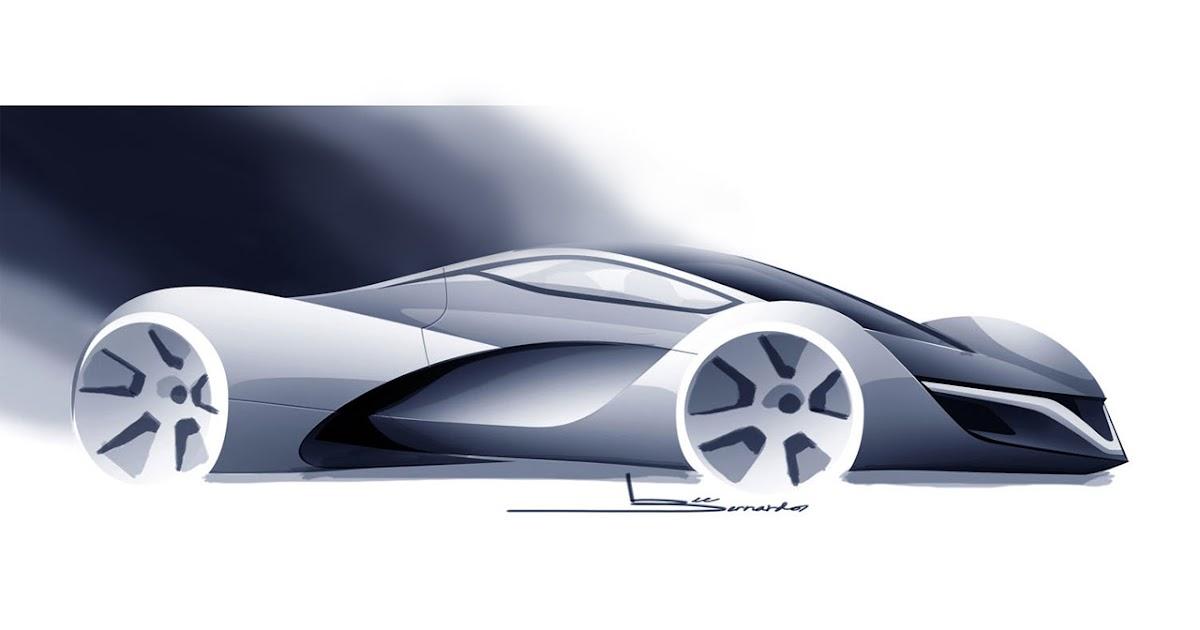 Supercar Sketches Gallery Mazda Furai Concept 2008