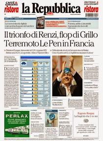 La prima pagina del 26 maggio 2014