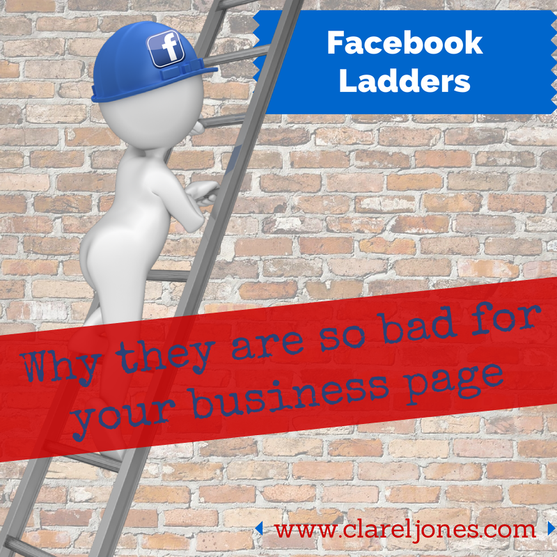 facebook Ladders, bad idea, plexus, plexus slim, facebook, online business, work at home