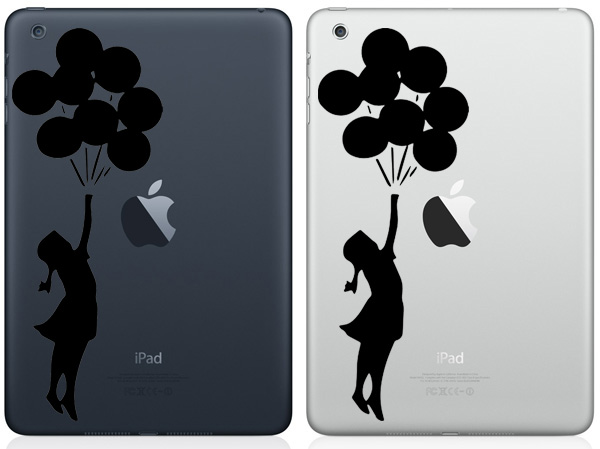 Girl With Ballons iPad Mini Decals