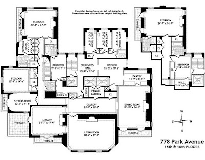 The bon savant from the estate of brooke astor part two for Gossip girl apartment floor plans