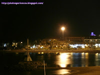 Vista nocturna de la playa de las Vistas - Night view of the beach of Las Vistas