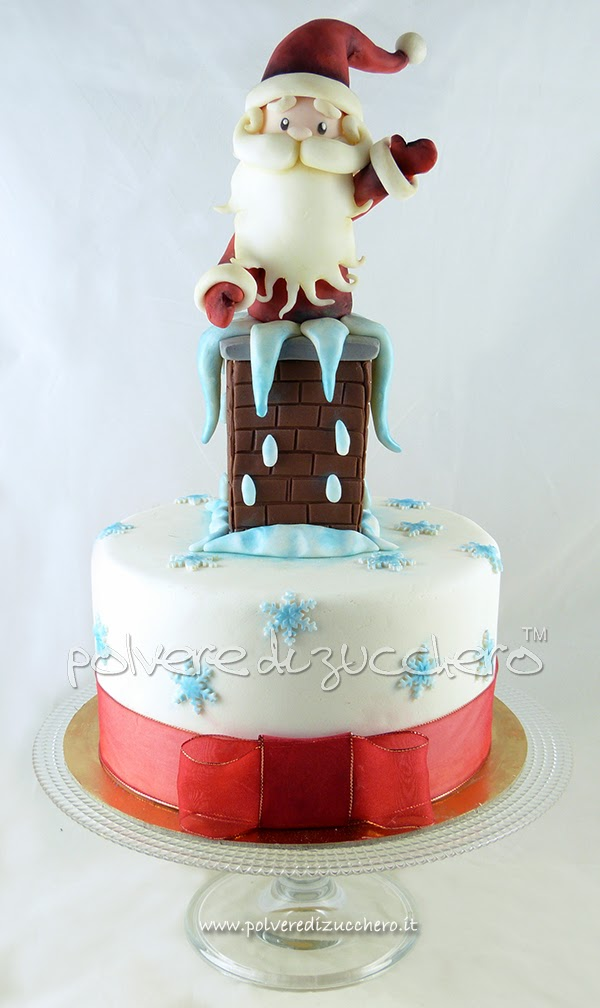 Cake Design Provincia Varese : Torta di Natale: Babbo Natale nel comignolo, una torta ...