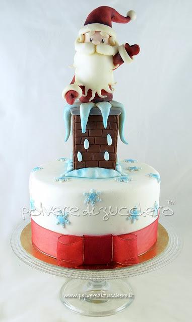 torta natale polvere di zucchero
