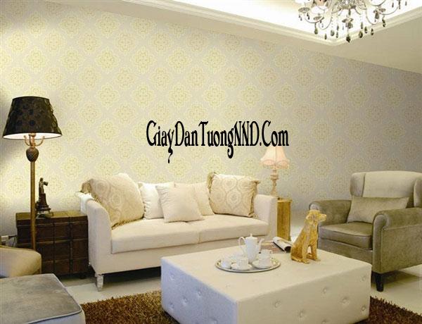 Giấy dán tường phòng khách cho chung cư