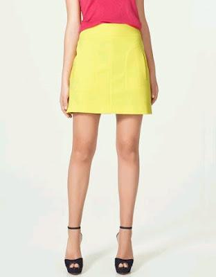 Zara Yellow Skirt Uk 10