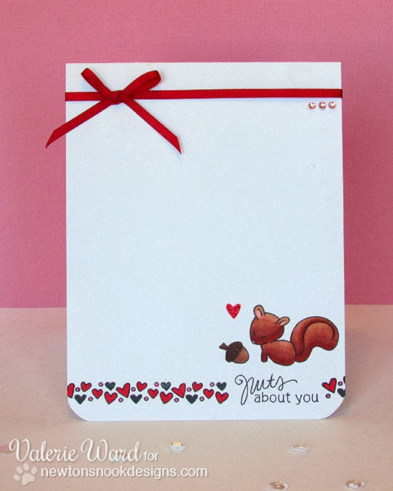 Squirrel Valentine card by Valerie Ward for Newton's Nook Designs