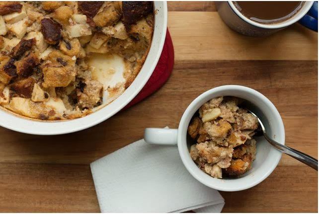 Cinnamon Apple Raisin Strata