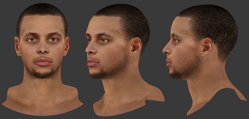 NBA 2K14 Stephen Curry Cyberface Mod