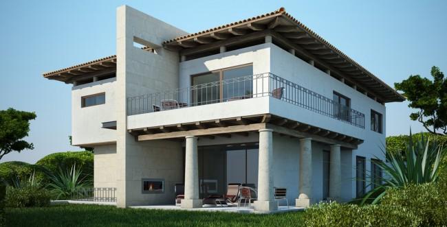 Fachadas de casas modernas renders 3d de fachadas de for Casas 3d