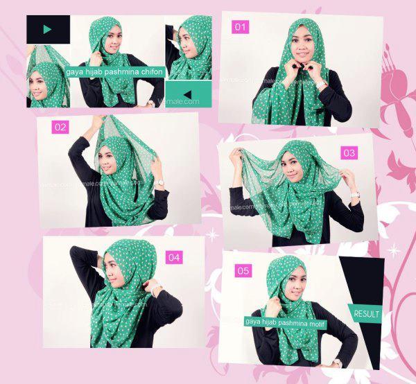 Tutorial Pashmina Sifon 2013 - Tutorial Memakai Jilbab