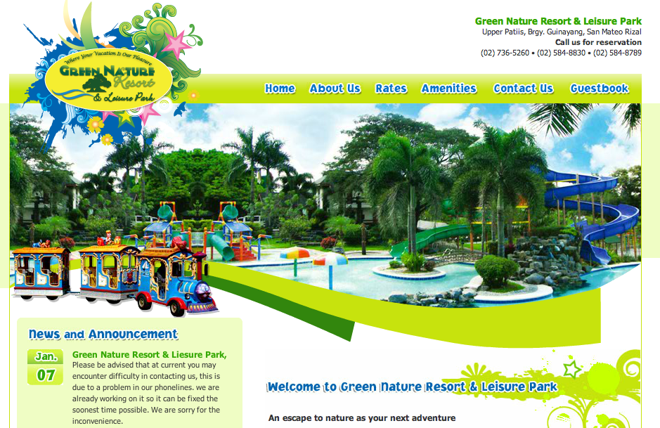Resorts In Rizal Philippines Green Nature Resort And Leisure Park