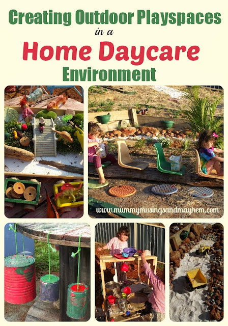 Home Daycare Backyard Ideas : hope to get you excited about play and learning outdoors!
