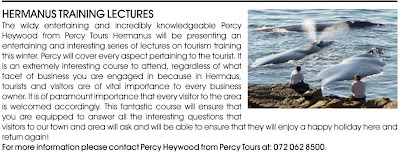 Hermanus info Training Lectures, June, July and Aug