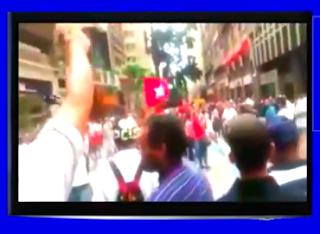 Militantes do PT foram afugentados pelo povo revoltado com o partido dos trabalhadores
