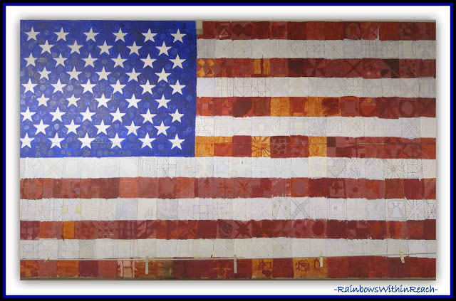 USA Patriotic Collaboration: Creating an American Flag via Debbie Clement