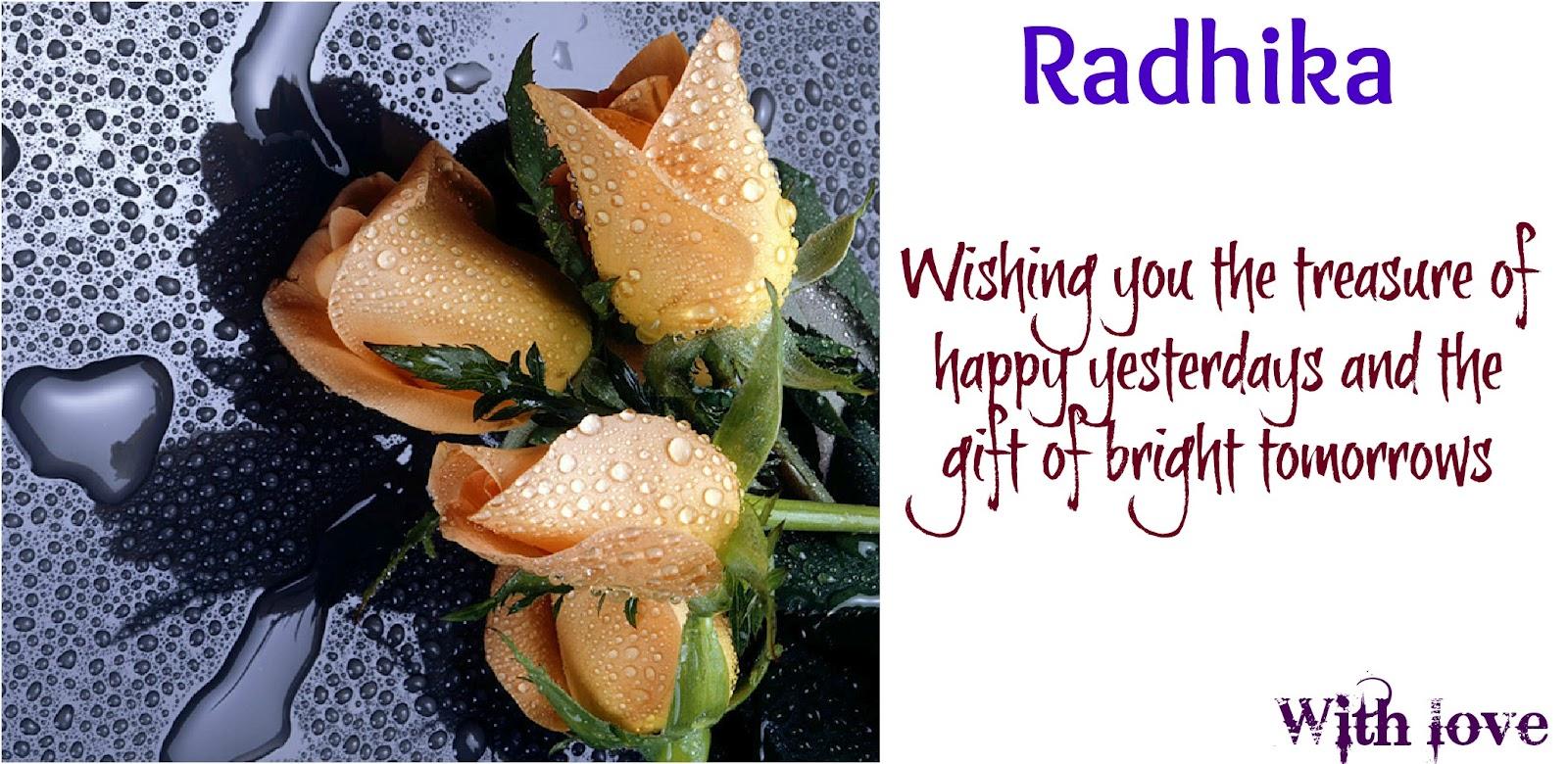 Happy Birthday Radhika Cake Images