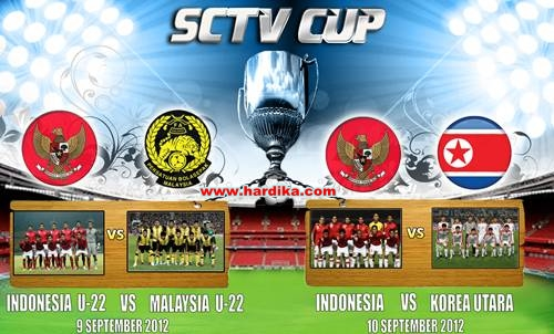 Hasil Pertandingan Indonesia vs Korea Utara 10 September 2012 SCTV Cup