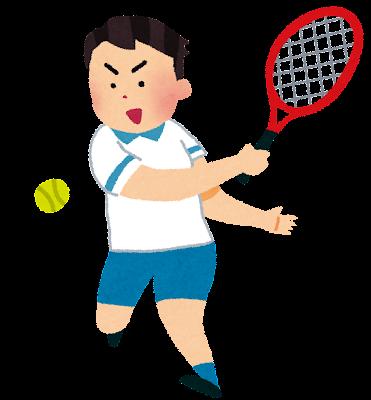 テニスの選手のイラスト