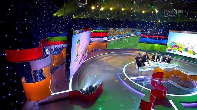 Studio podczas przerwy meczu Brazylia - Chorwacja