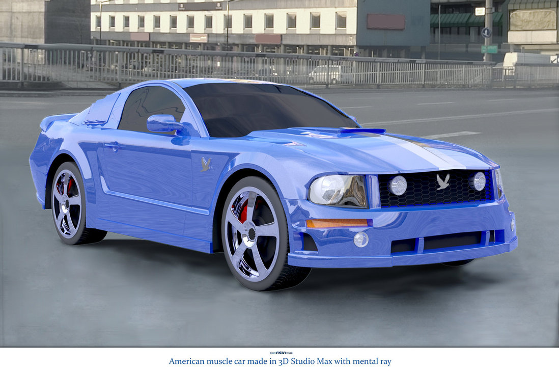 blue american muscle car cars online modifications. Black Bedroom Furniture Sets. Home Design Ideas