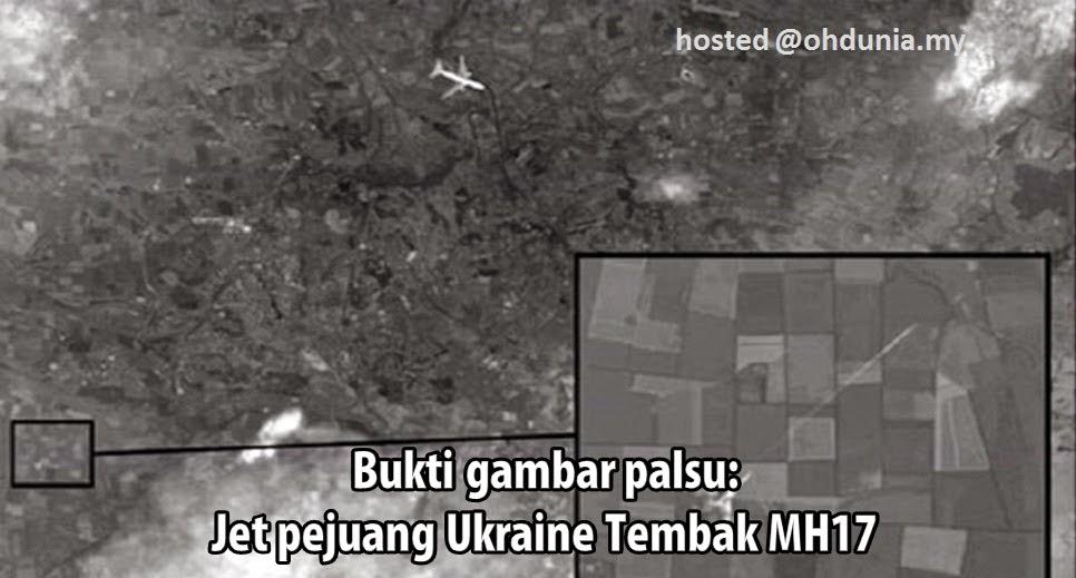 Sah Palsu: Bukti Gambar Pesawat MH17 Ditembak Jet Pejuang Ukraine