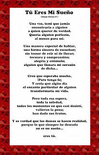 poema de amor tu eres mi sueño